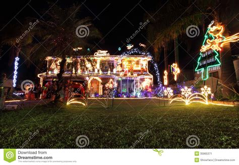 family house decorated with christmas lights and