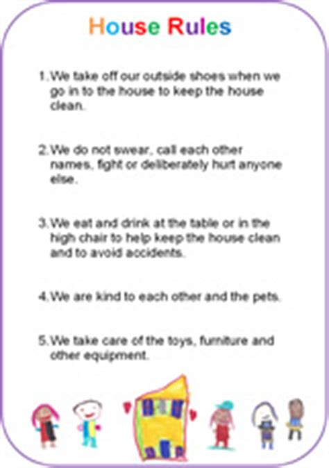 house rules template images templates design ideas