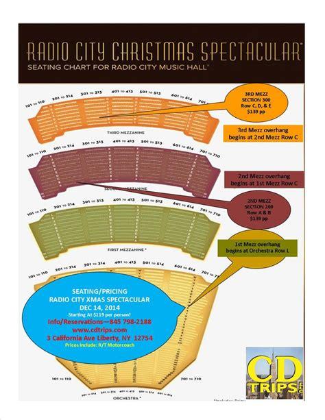 radio city seat map seating map of radio city for cd trips llc trip