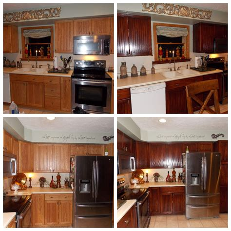 gel stain oak cabinets honey oak kitchen restained general finishes brown