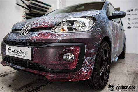 Design Folie Vw Up by Wrapstyle Denmark Vollfolierung Vw Up Tuning 1