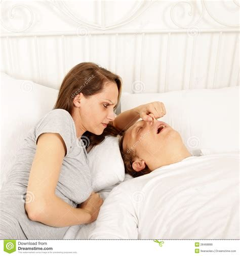 bed man snoring man in bed royalty free stock images image 28468889