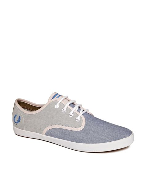 fred perry sneakers fred perry foxx oxford sneakers in blue for lyst