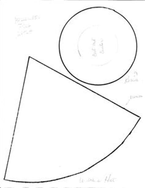 Wizard Hat Outline by Pics For Gt How To Make A Witch Hat Out Of Construction Paper