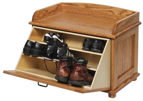 shoe storage chests amish oak wood shoe storage chest