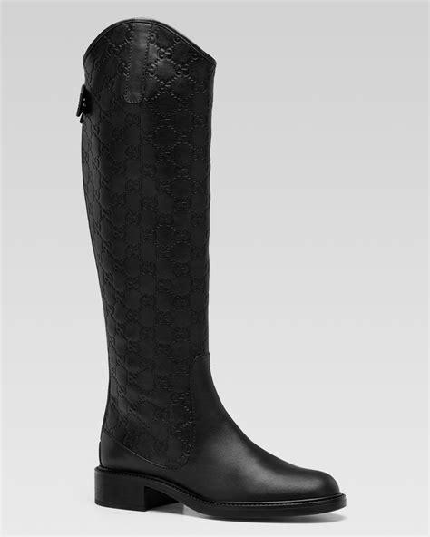gucci boots gucci maud flat boot in black lyst
