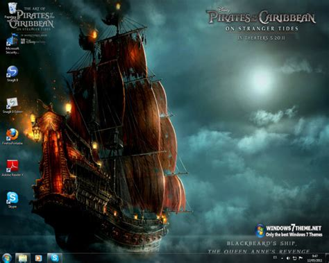 themes for windows 7 movies pirates of the caribbean 4 windows 7 theme windows