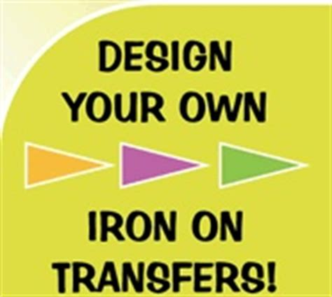 design your own iron on transfer kid stuff