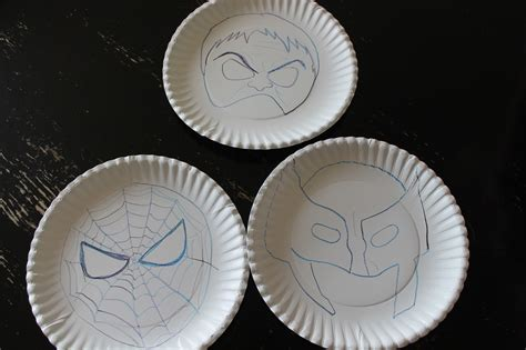 Masks Out Of Paper Plates - freshly completed how to make masks in