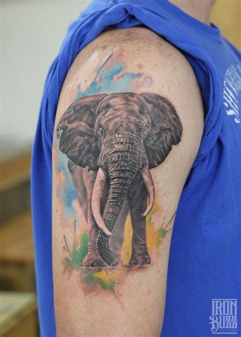 elephant tattoo standing 25 best ideas about realistic elephant tattoo on