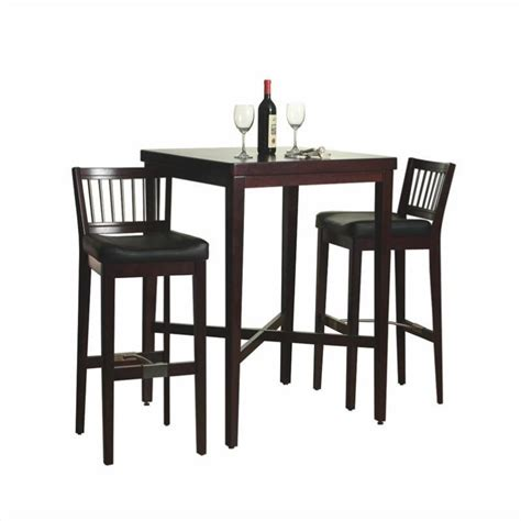 wood bar table and stools home styles furniture 3 pc solid wood table bar stools cherry pub set ebay
