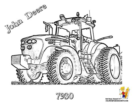 free coloring pages of john deer