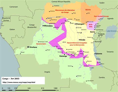 congo map congo war