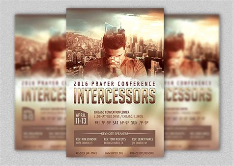 Prayer Conference Flyer Poster Template Inspiks Market Prayer Flyer Template