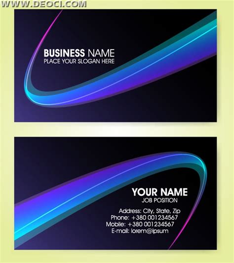 visiting card templates cdr cool black and blue abstract business card design template