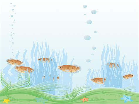 templates themes aquarium powerpoint templates animals wildlife blue