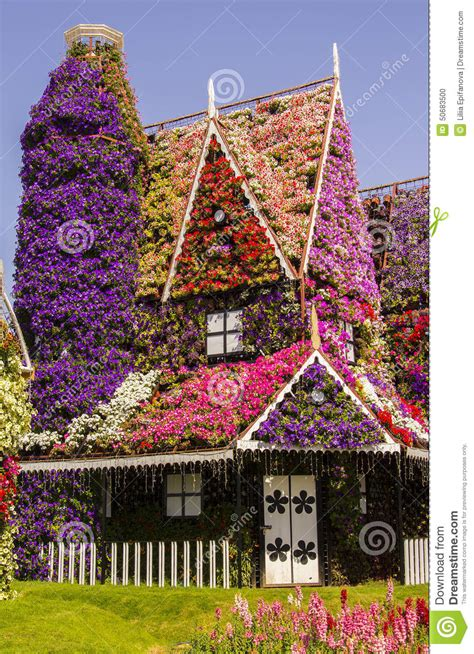 flowers house amazing house of flowers in the miracle garden park stock