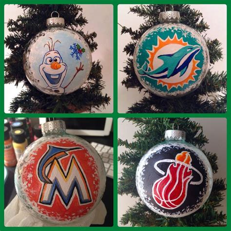 jacks christmas trees formerly eljac miami fl handpainted ornaments olaf inspired miami dolphins miami heat florida marlins