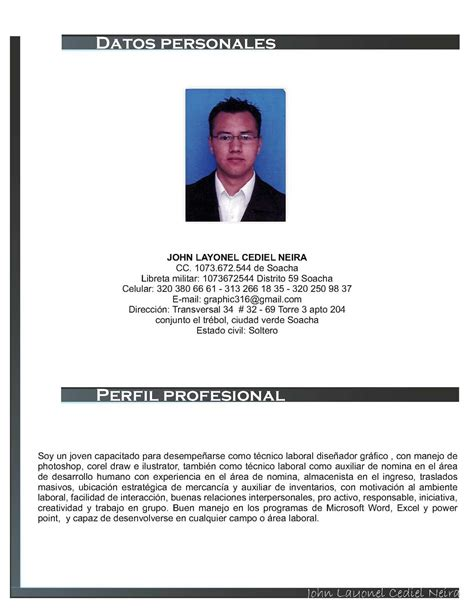 abhijit de perfil profesional calam 233 o hoja de vida