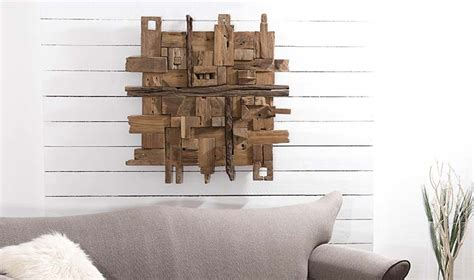 Deco Mur Design d 233 coration murale design en bois de teck tendance