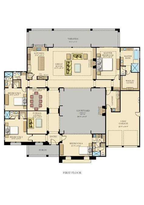 Courtyards, The courtyard and Bedrooms on Pinterest