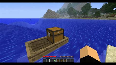 how to make a working boat in minecraft pocket edition minecraft mod chest boat 1 4 7 quot łodzie z skrzyniami quot youtube