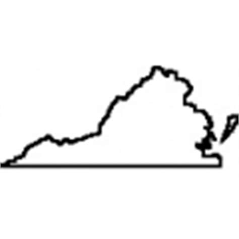 Virginia State Outline by Geography