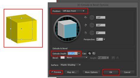 cara membuat gambar 3d di adobe illustrator membuat kotak menjadi kubus dengan efek 3 dimensi di
