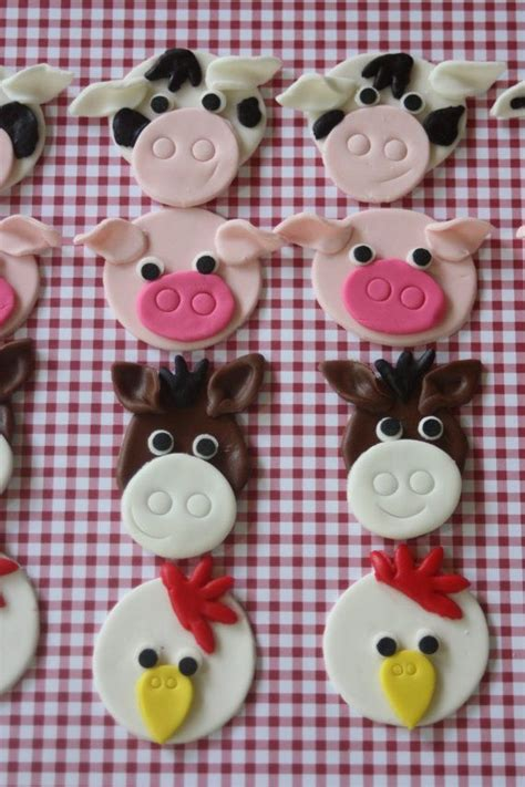 Cupcake Topper Farmer Animal 25 best images about animal farm cakes cupcakes on