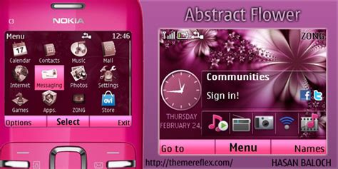 nokia c3 01 themes zedge abstract flower theme for nokia c3 x2 01 themereflex