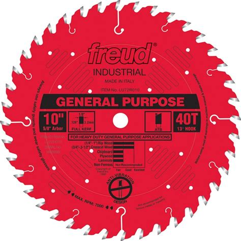 freud table saw blades freud 174 lu72r general purpose saw blades rockler woodworking and hardware