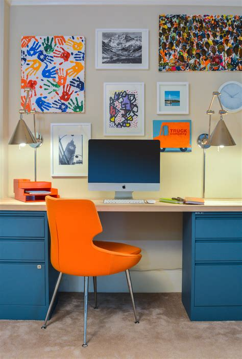 funky home decor home office with beige