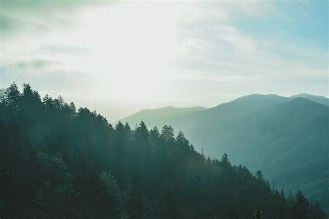 mountains landscape foggy  photo  pixabay