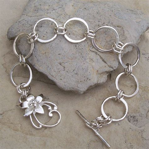 Handmade Sterling Silver Jewellery - handmade sterling silver chain bracelet with sterling silver