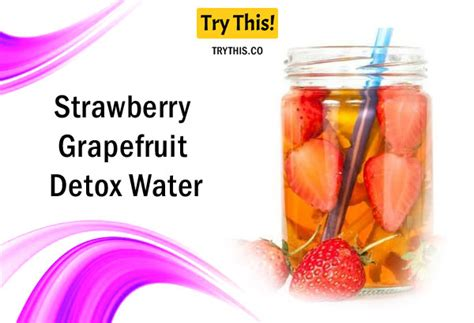Grapefruit Cucumber Strawberry Detox Water by Detox Water Top 50 Fruit Infused Water Recipes Health