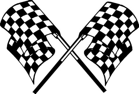 checkered pattern history checkered flag motorcycle go kart race car hood decal ebay