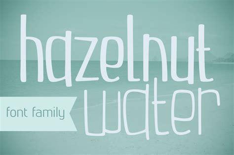 font design water hazelnut water font family