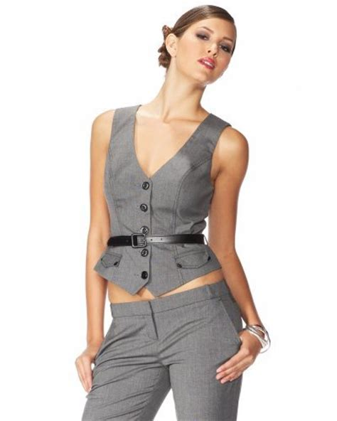 10 Sexiest For The Office From Bebe by 3 Stretch Cross Stitch Belted Vest 10 Sexiest