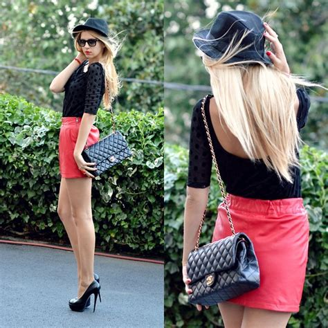 Lidiya Blouse lidiya ostafiychuk h m hat ban sunglasses pull blouse mango skirt chanel bag