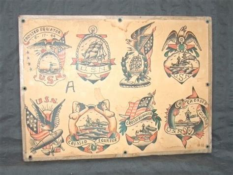 Navy Tattoo History | possibly flash by danny danzl tattoo history