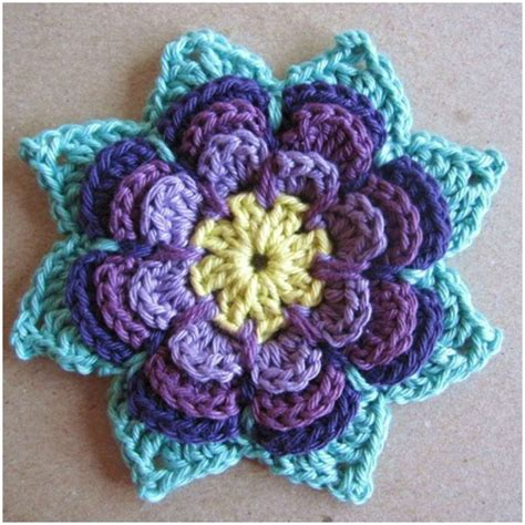 flower pattern of crochet pointy flower crochet free pattern stylesidea