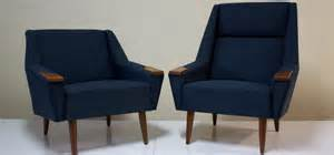 mid century upholstered arm chairs