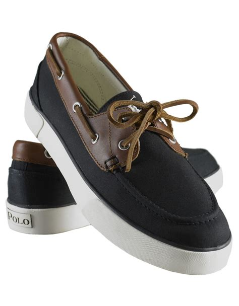 ralph shoes for lyst polo ralph rylander canvas boat shoes in