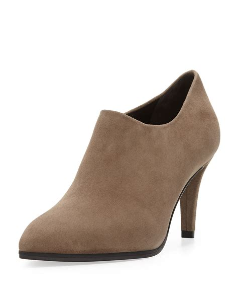 stuart weitzman ankle boots stuart weitzman standin suede ankle boot in beige praline