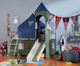 Bunk Bed With Tent Boys Tent Bunk Bed With Slide Powell 938 069