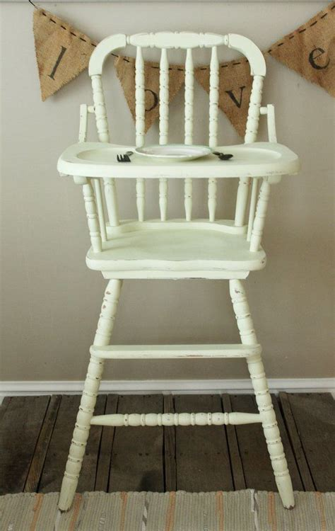 wood high chair parts vintage painted 1950 s high chair lind by