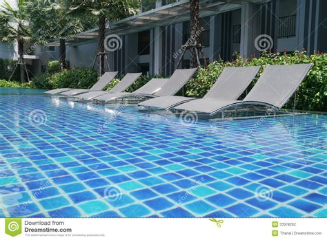 pool beds poolside bed stock photography image 33378262