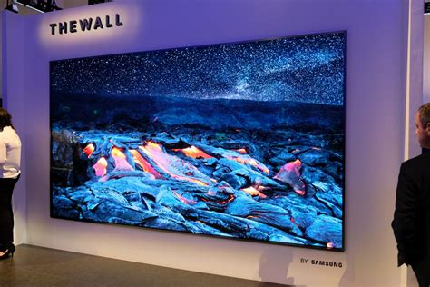 samsungs    wall microled tv  literally