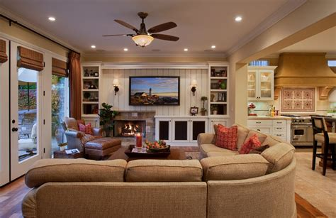 Ceiling Fan Room by Traditional Family Room Decorating Ideas With Fireplace