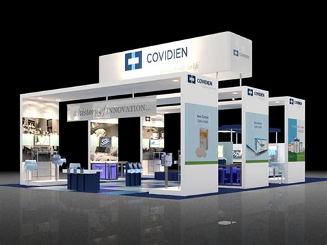 booth design proposal covidien 40x60 booth proposal on behance